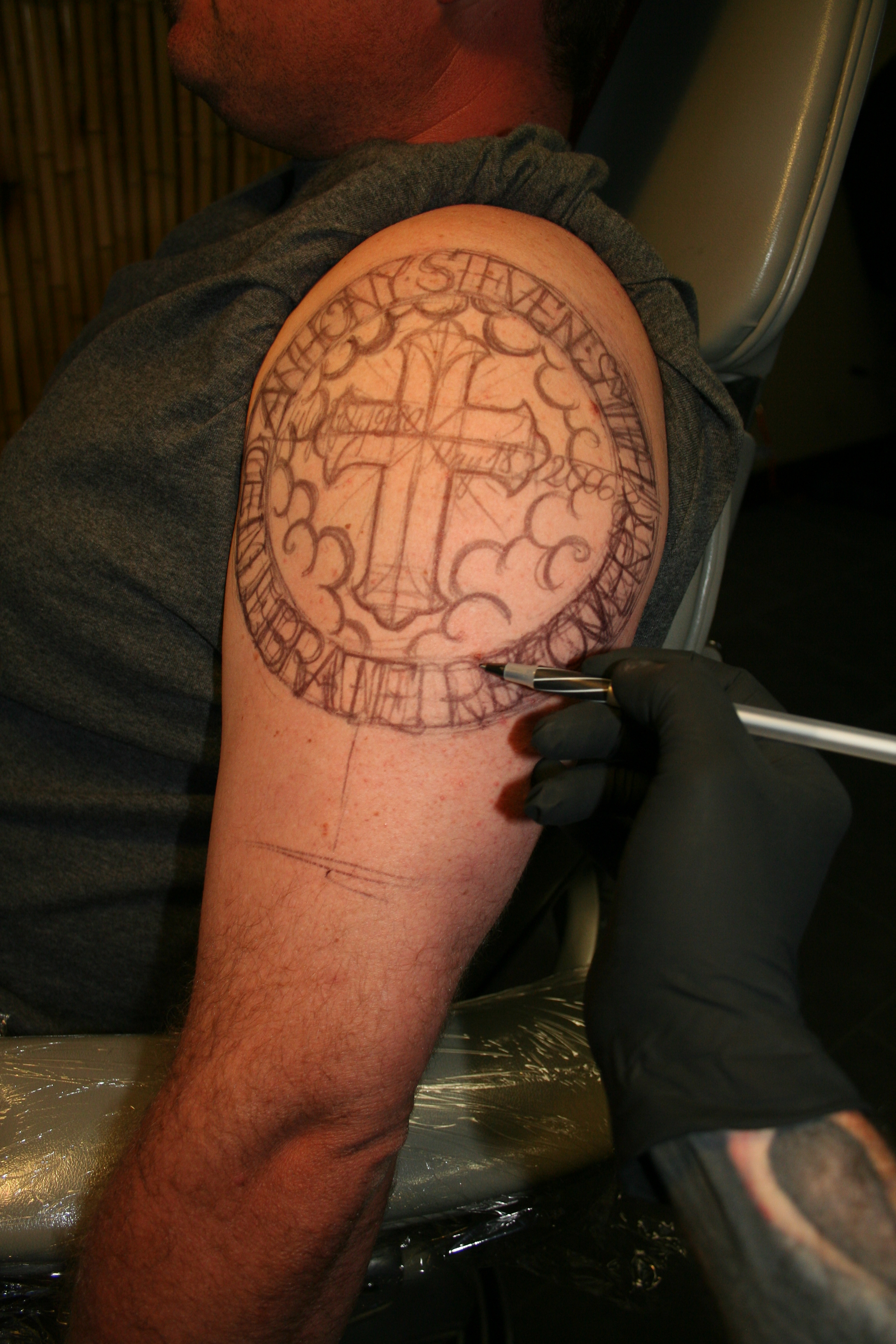 Oldschool memorial tattoo