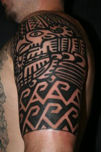 Aztec Tribal half a sleeve in one session