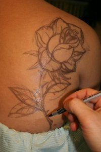 Freehand tattoo drawing on your skin