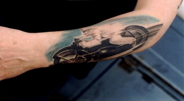 Biker Tattoos Ride Fast and Live Hard