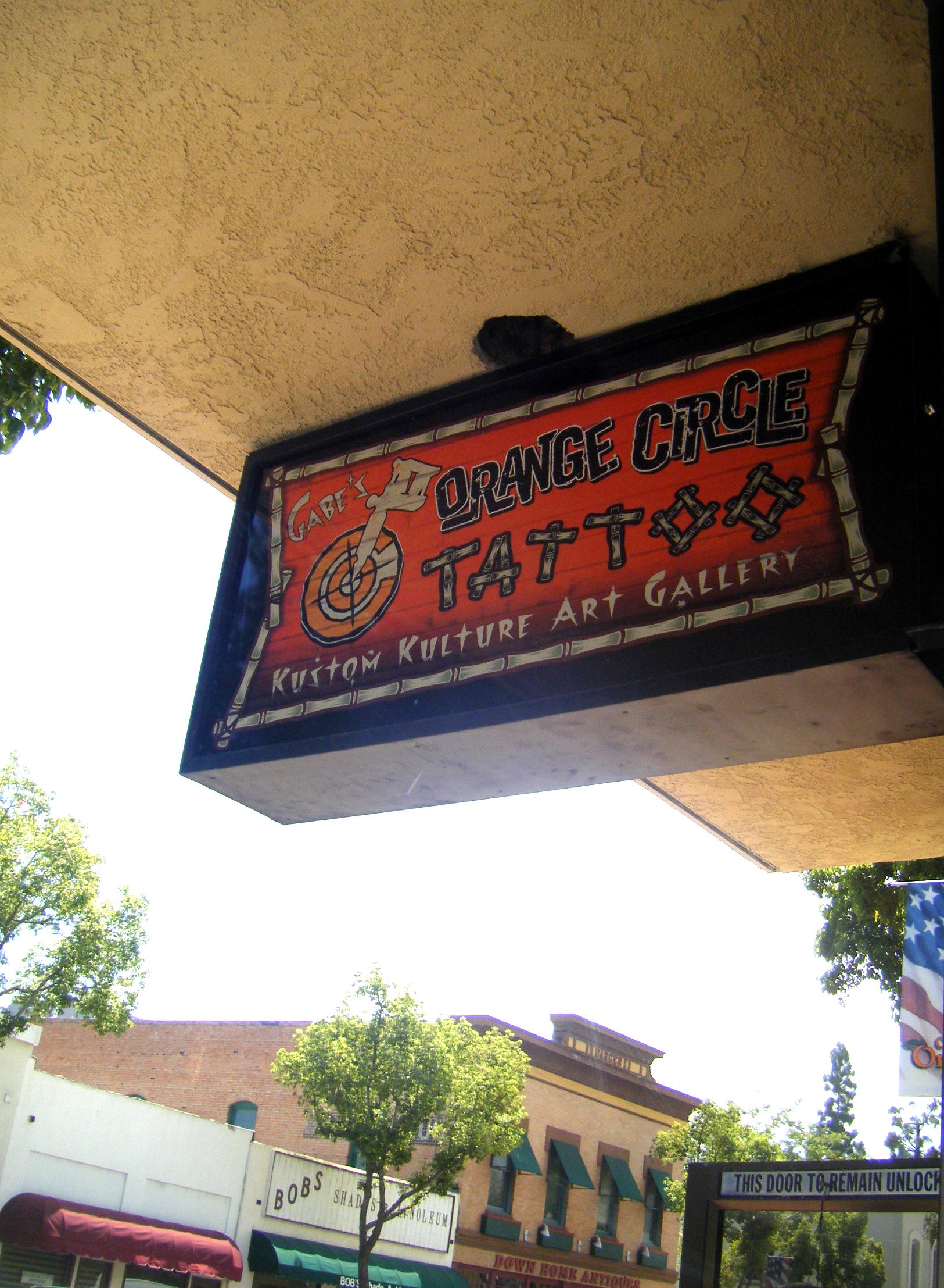Orange County's Coolest Tattoo Parlor at the Orange Circle / Plaza, CA