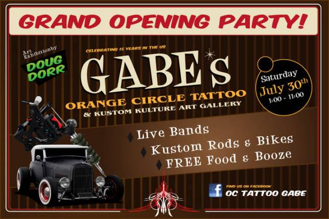 Orange Circle Tattoo & Art Gallery Grand Opening Party
