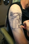 Dragster tattoo