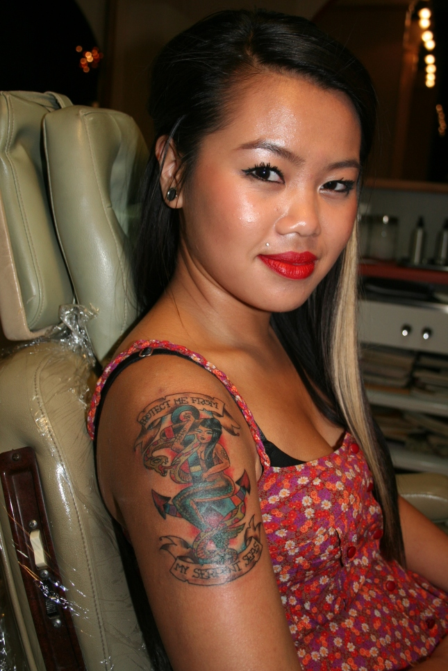 Oldschool Tattoo is a tribute to her parents