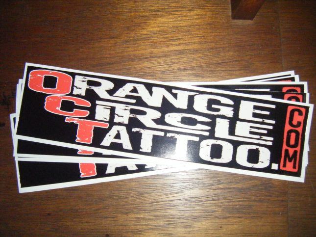 Orange Circle Tattoo Bumper Sticker