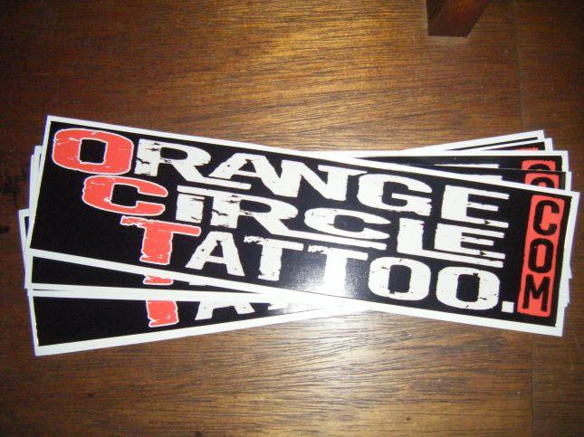Orange Circle Tattoo Bumper Sticker