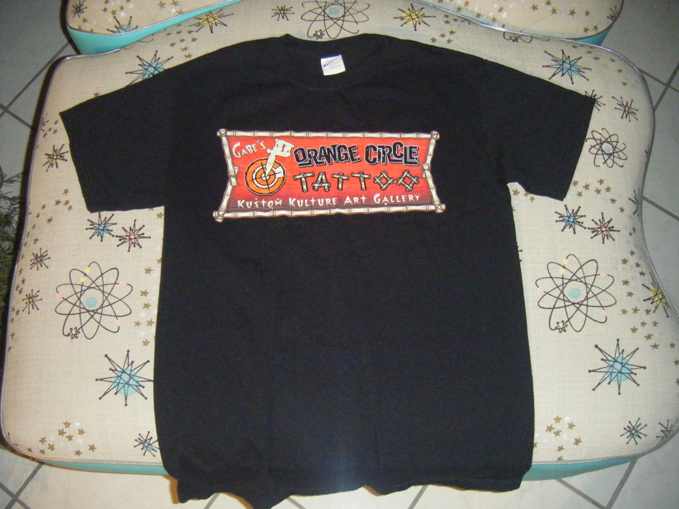 Orange Circle Tattoo T-Shirt